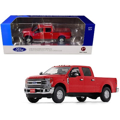 Ford F 250 Crew Cab Super Duty Pickup Truck Race Red 1 50 Diecast Model Car By First Gear Target