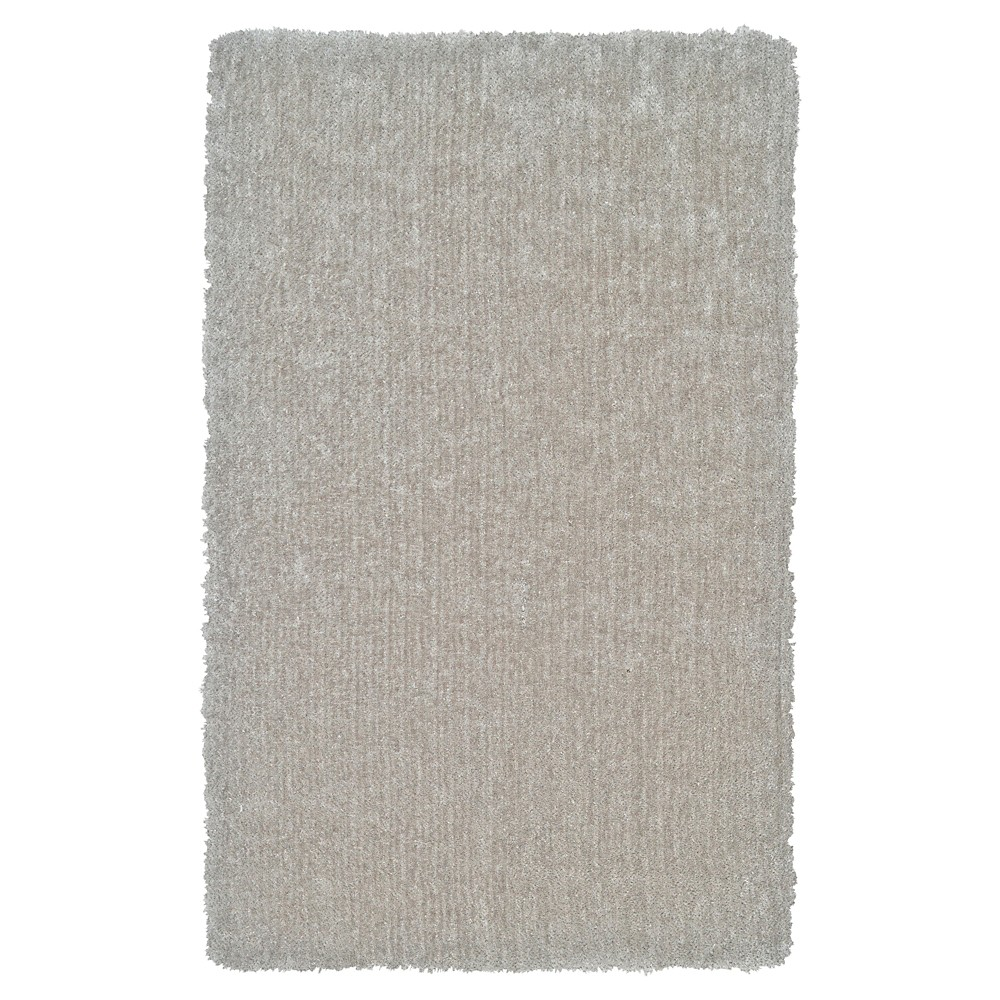 5'X8' Solid Tufted Area Rugs Silver - Room Envy