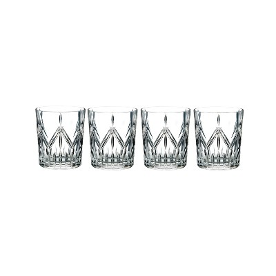 Marquis By Waterford Lacey 14oz 4pk Crystal Double Old-Fashioned Glasses