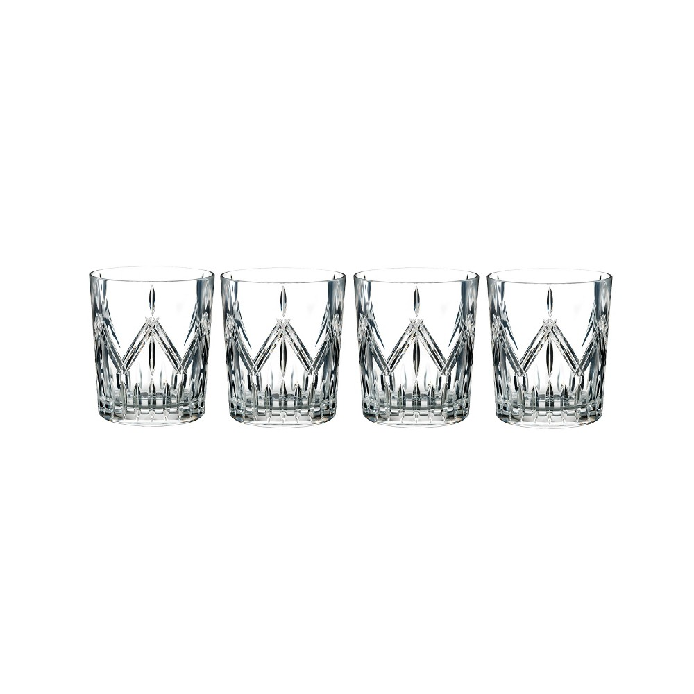 Marquis By Waterford Lacey 14oz 4pk Crystal Double Old-Fashioned Glasses, Clear