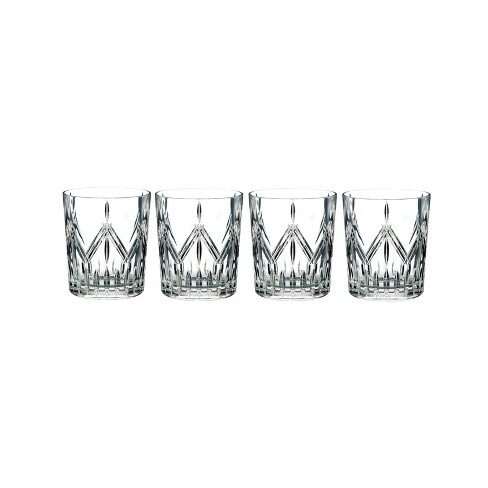 4b7b0dc967e Marquis By Waterford Lacey 14oz 4pk Crystal Double Old-Fashioned Glasses