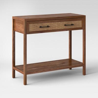 Bon Warwick Wood U0026 Rattan Brown Console Table   Threshold™ : Target