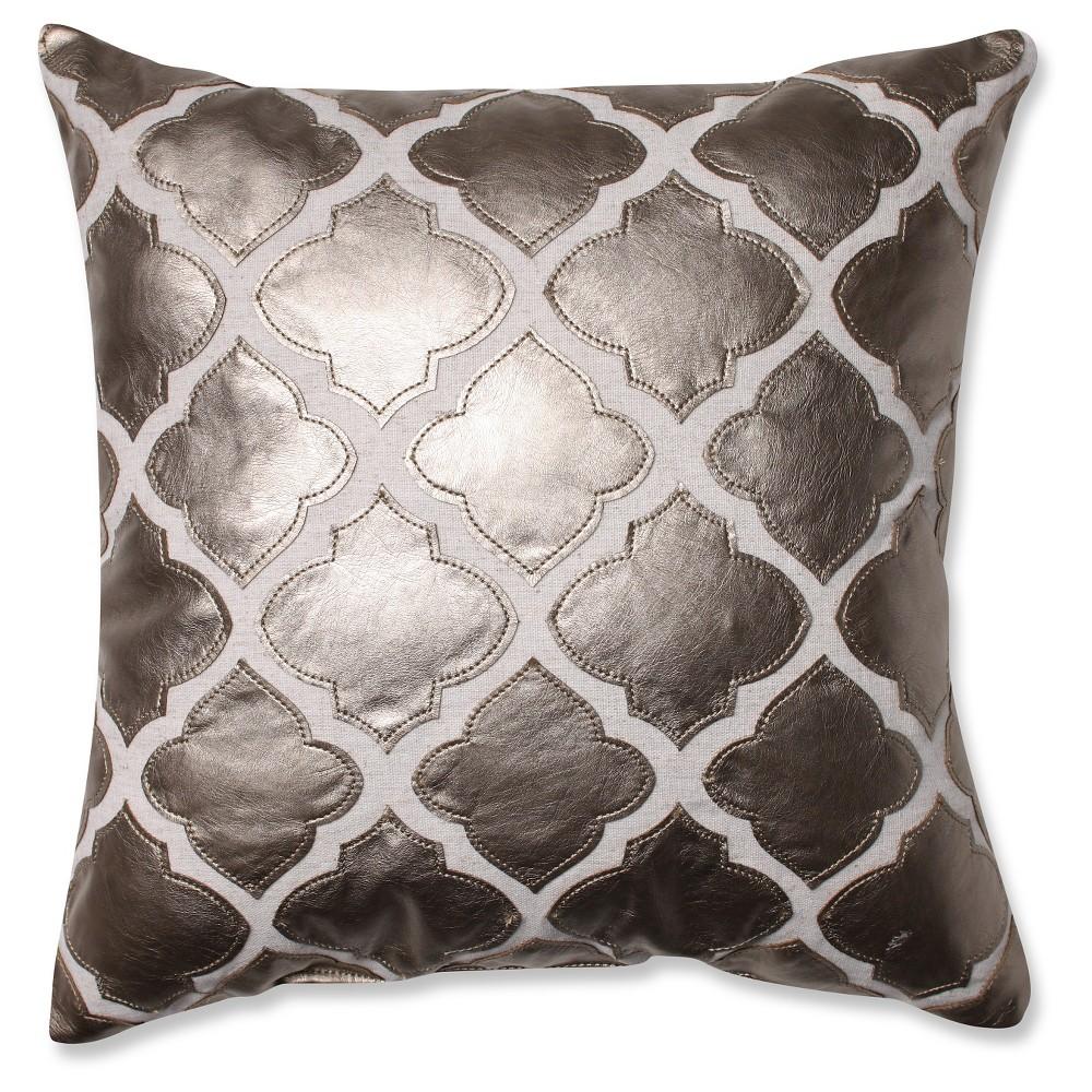 Metal/Bronze Flash Throw Pillow (16.5