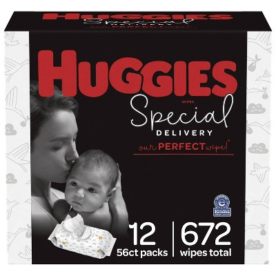 Huggies Special Delivery Hypoallergenic Unscented Baby Wipes - 672ct