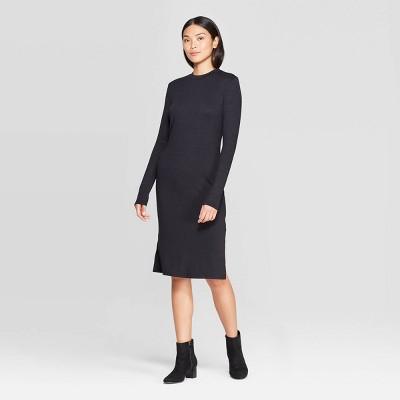 Women's Long Sleeve Crewneck Essential Knit Dress - Prologue™