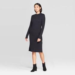 Women's Long Sleeve Crewneck Essential Knit Midi Dress - Prologue™