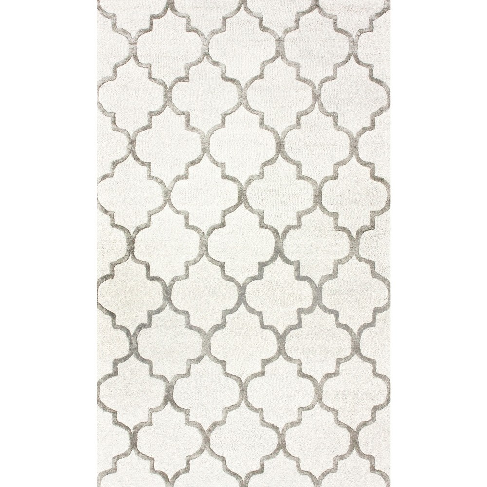 Image of 12'X18' Solid Area Rug Off-White - nuLOOM, Silver