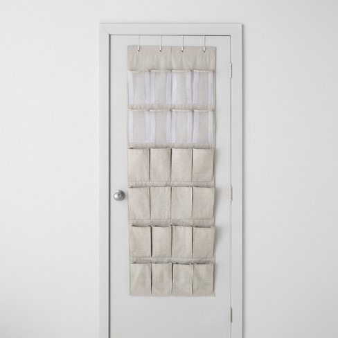 Over The Door 24 Pocket Mesh Shoe Organizer Light Gray - Made By Design™ - image 1 of 4