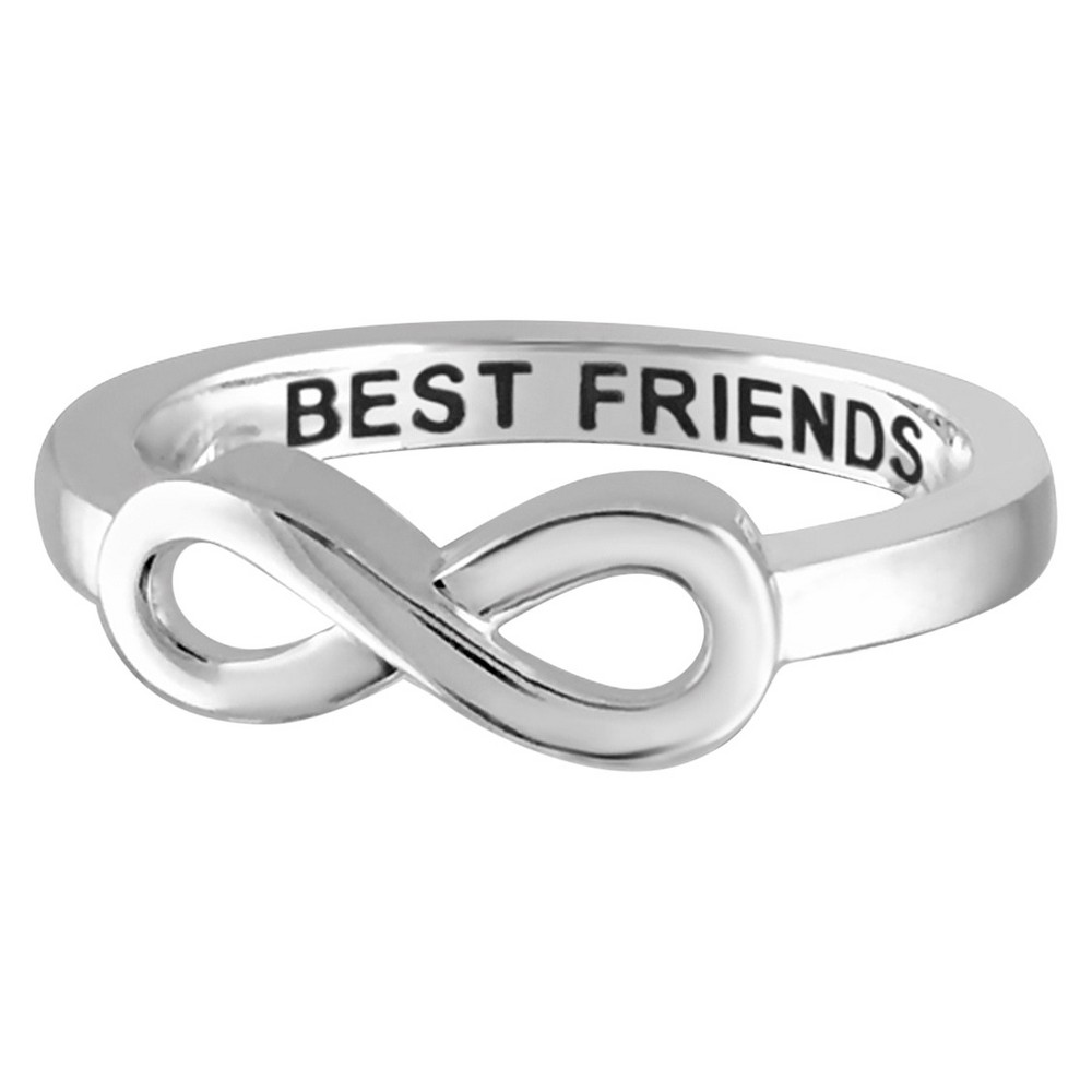 Women's Sterling Silver Elegantly Engraved Infinity Ring with