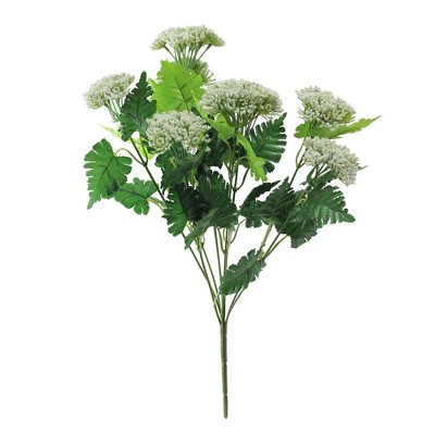 """Allstate Floral 18"""" White/Green Floral Queen Anne's Artificial Spring Spray Pick"""