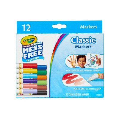 Crayola 12ct Color Wonder Classic Markers