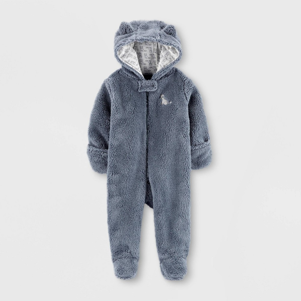 Image of Baby Boys' Raccoon Pram Overcoat Jacket - Just One You made by carter's Gray 3M, Kids Unisex