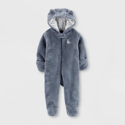 Baby Boys' Raccoon Pram Overcoat Jacket - Just One You® made by carter's Gray