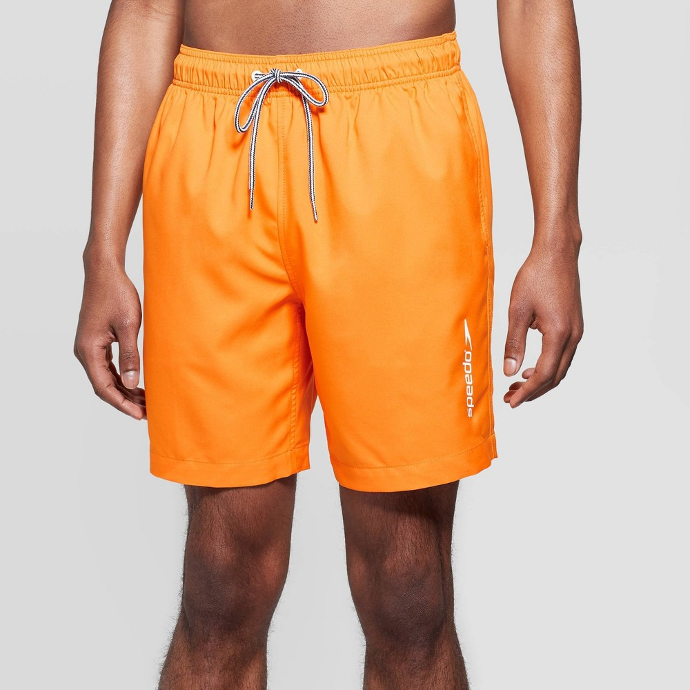 f428392144 Speedo Mens 8 Volley Swim Trunks Orange S