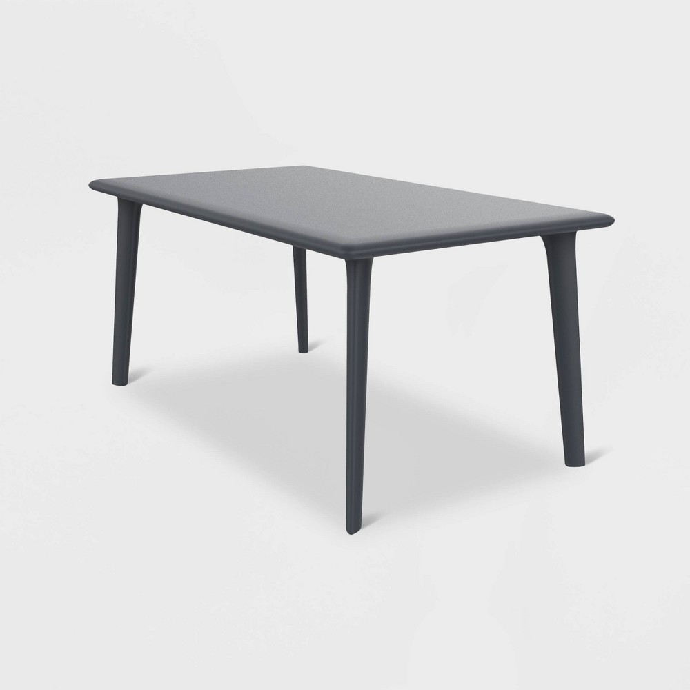 New Dessa Rectangular Patio Table - Dark Gray - Resol
