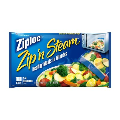 Food Storage Bags: Ziploc Zip'n Steam