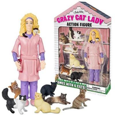"""Accoutrements Crazy Cat Lady 6"""" Vinyl Action Figure"""