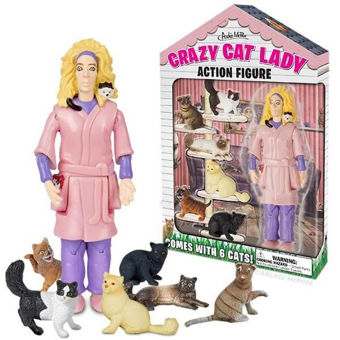 "Accoutrements Crazy Cat Lady 6"" Vinyl Action Figure - image 1 of 2"