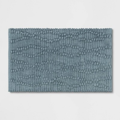 "20""x32"" Chenille Multi Textured Bath Rug Blue - Threshold™"