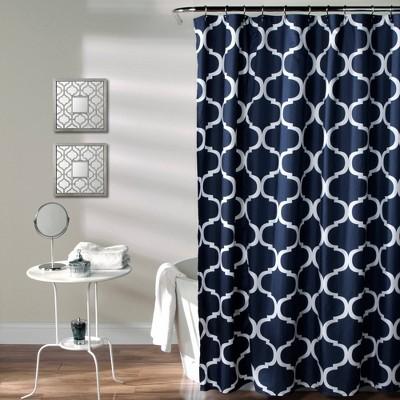 Geo Shower Curtain Navy - Lush Decor®
