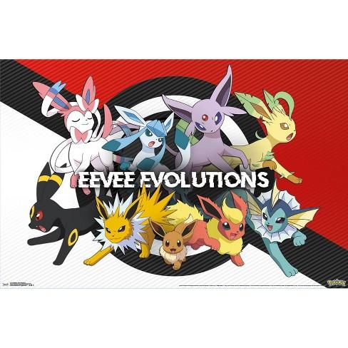 "34""x23"" Pokemon Eeveelution Unframed Wall Poster Print - Trends International - image 1 of 2"