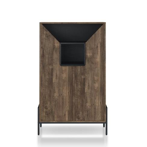 Vargo Storage Cabinet Reclaimed Oak - ioHOMES - image 1 of 6