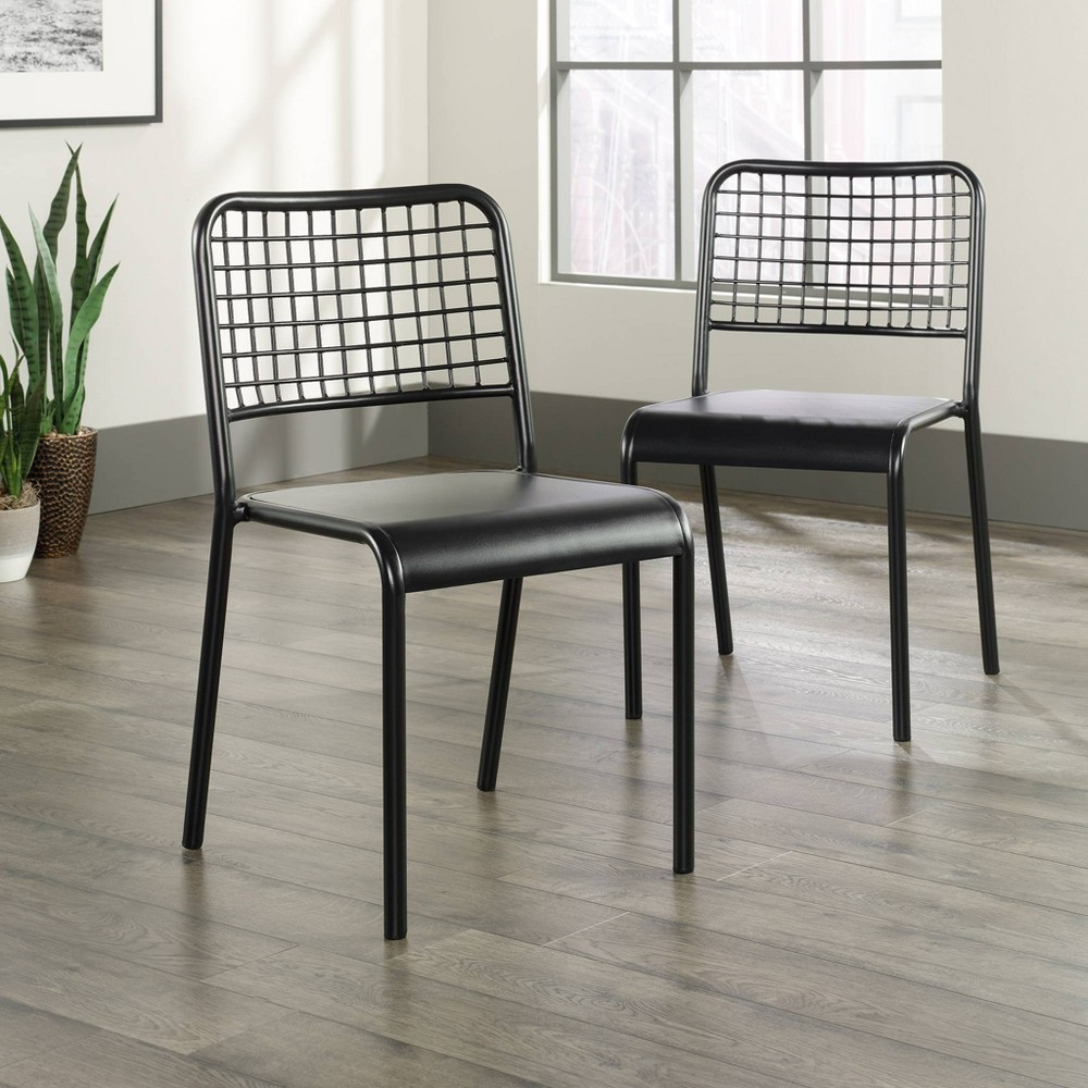 Set of 2 Boulevard Cafe Dining Chair Black - Sauder