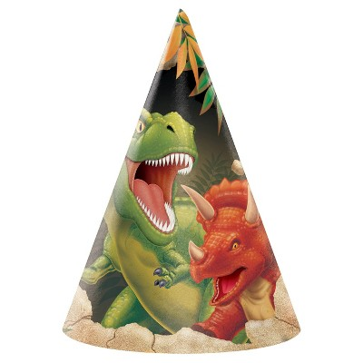 8ct Dino Party Hats