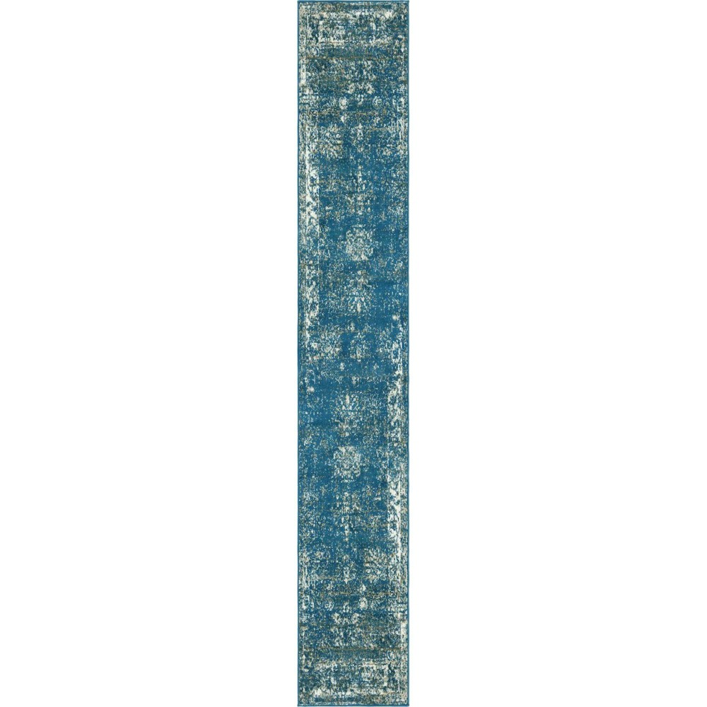 2 39 X13 39 Runner Casino Sofia Rug Blue Ivory Unique Loom