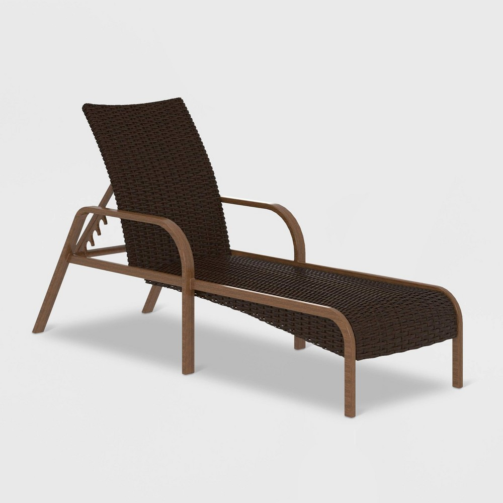 SmartDry Patio Chaise Lounge - Dark Brown - Cosco