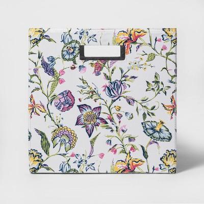 "13"" Fabric Cube Storage Bin Multi Floral Pattern - Threshold™"