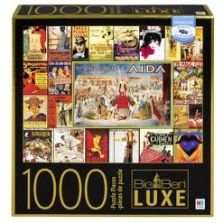 Big Ben Luxe: Vintage Poster Big Ben Puzzle 1000pc, Adult Unisex