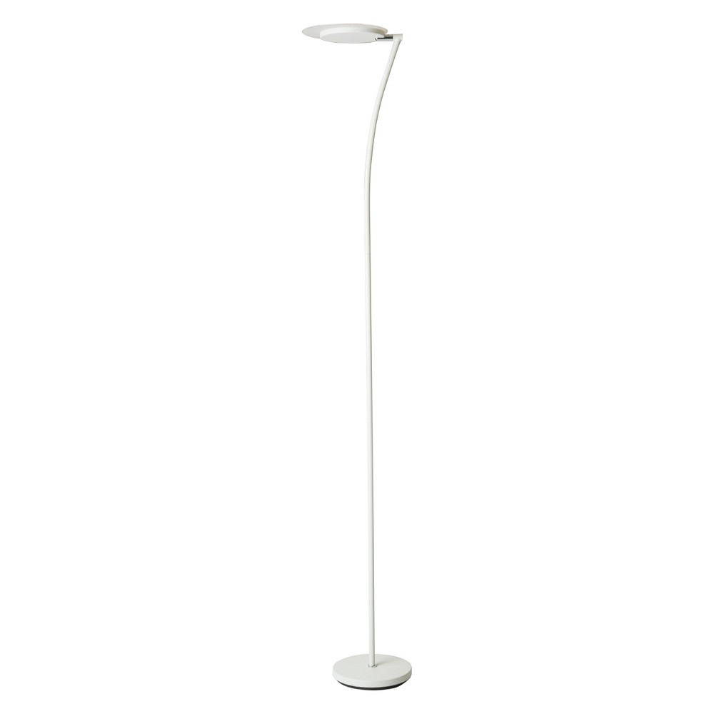 Image of Adjustable Torchiere Led Floor Lamp White - Ore International