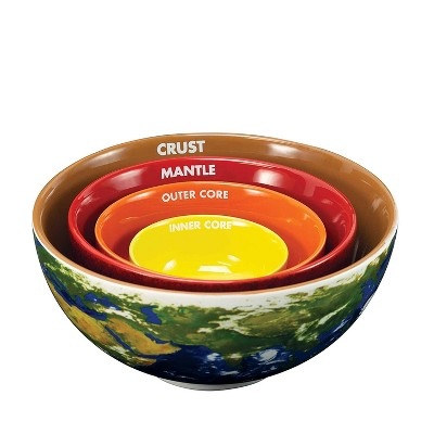 Crowded Coop, LLC Earth Cross Section Nesting Bowls Set of 4