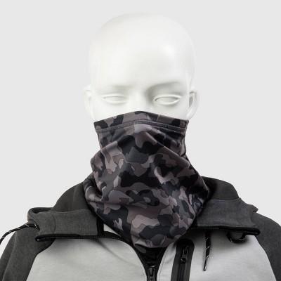 Isotoner Men's Camouflage Gaiter Scarves - Black One Size