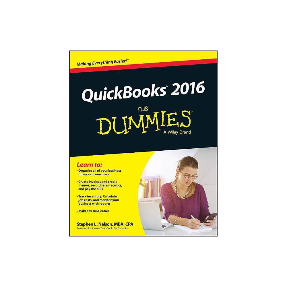 Quickbooks 2016 For Dummies By Stephen L Nelson Paperback