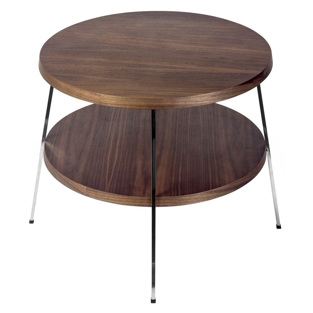 Best Discount 235 Two Top Side Table Walnut Brown Aeon