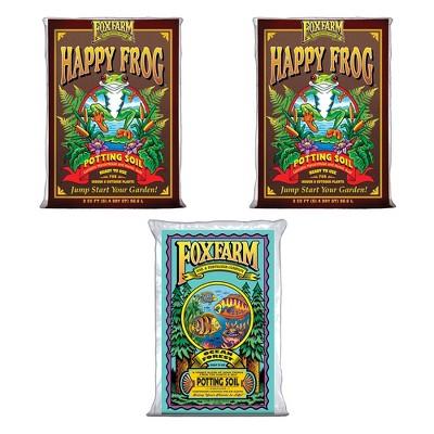 Foxfarm (2)FX14047+FX14000 Happy Frog Organic Mix & Ocean Forest Plant Soil Mix