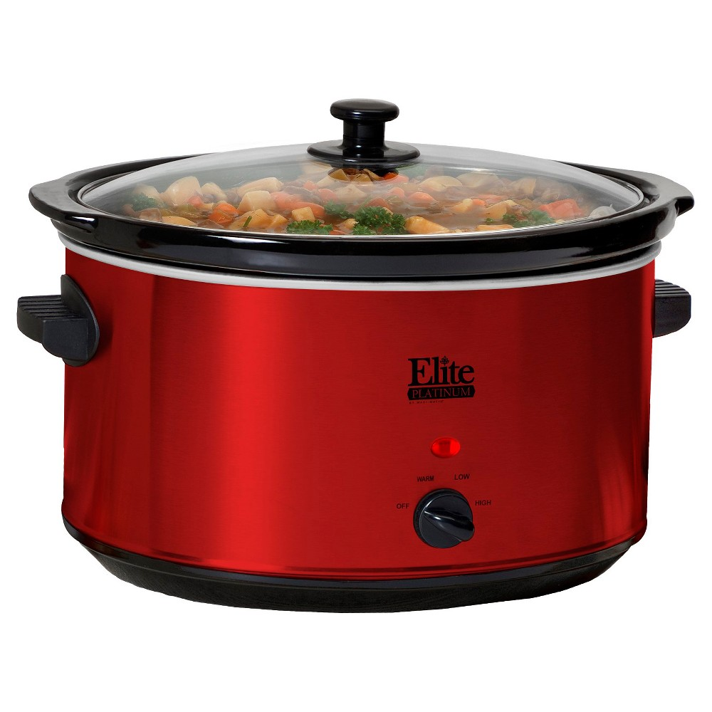 Elite Platinum 8.5 Qt. Slow Cooker – Red 47851046