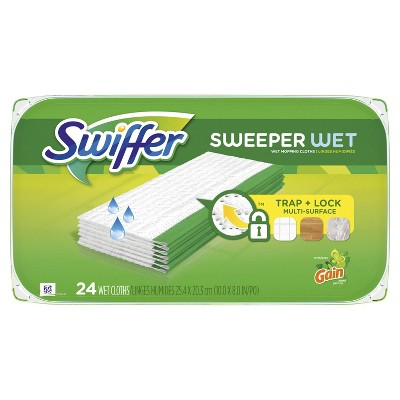 Swiffer Sweeper with Gain Scent Wet Mopping Cloths - 24ct
