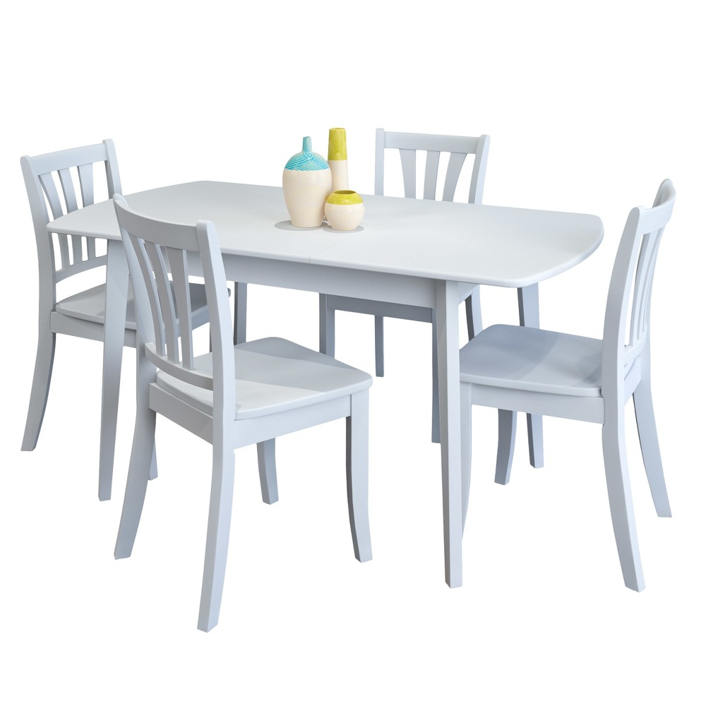 CorLiving Dining Table Set White