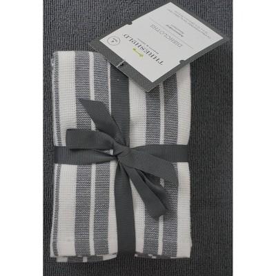 4pk Antimicrobial Dishcloths Gray - Threshold™