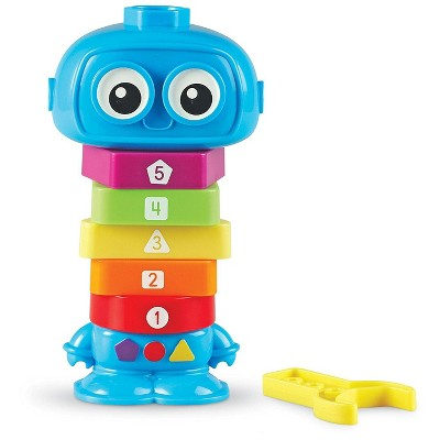 Learning Resources Count & Build TotBot, Fine Motor Toy, Blue, Ages 2+
