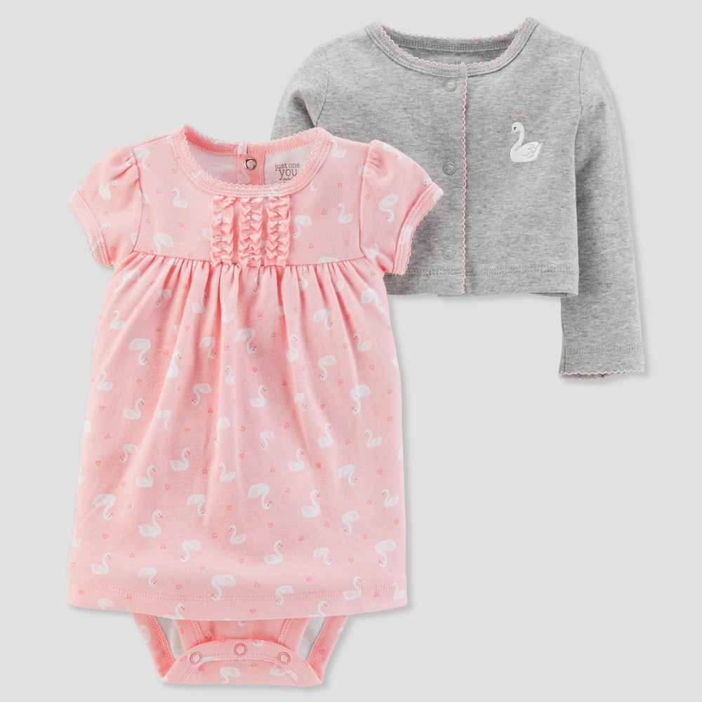 Baby Girls' 2pc Swan Dress Set - Just One You made by carter's Pink 9M