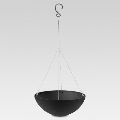"12"" Recycled Hanging Planter - Black - Smith & Hawken™"