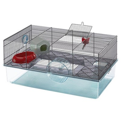 Ferplast Favola 57901470US2 Large Multi-Level Hamster Cage with Water Bottle, Food Dish and Hamster Hide-Out