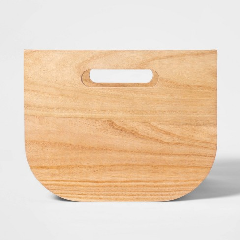 "Small Paulownia Wood Bin with Fabric Sides Peach 8""x10"" - Project 62™ - image 1 of 4"