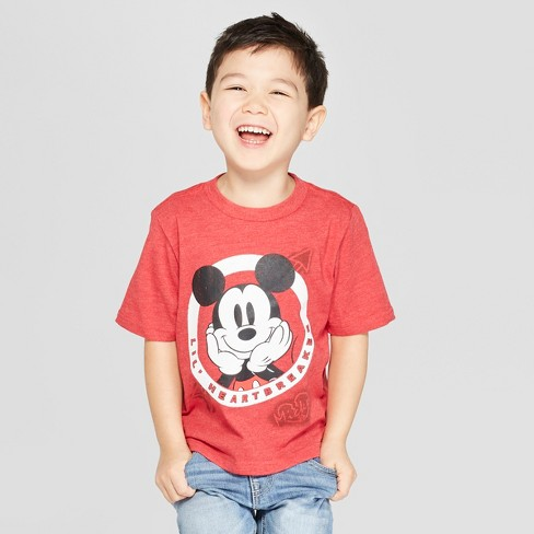 Toddler Boys' Disney Short Sleeve T-Shirt - Red - image 1 of 3