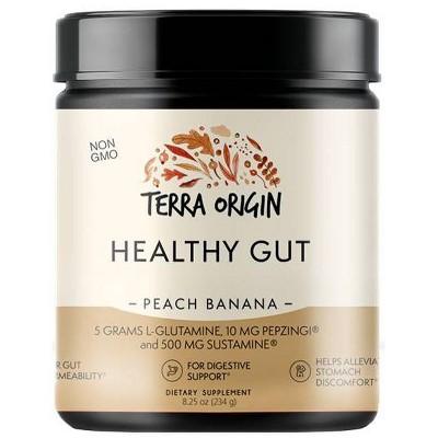 Terra Origin Healthy Gut Powder Peach Banana - 7.83oz