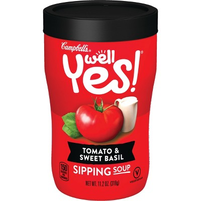 Campbell's Well Yes! Tomato & Sweet Basil Sipping Soup - 11.2oz